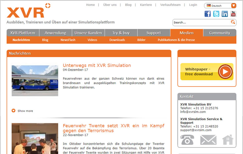 XVRsim-News in Holland